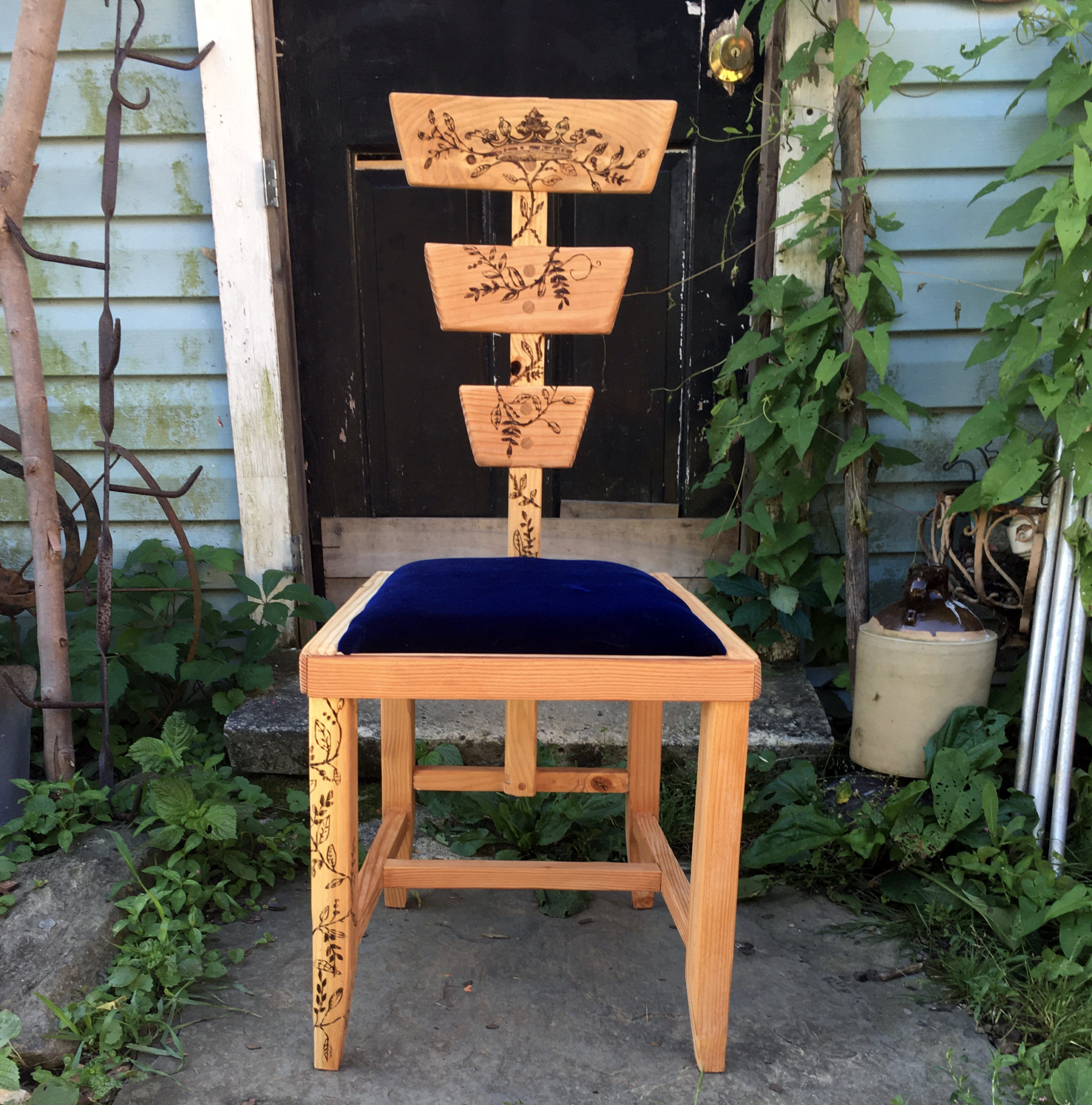 A handmade chair with no claim to lineage or fashion.